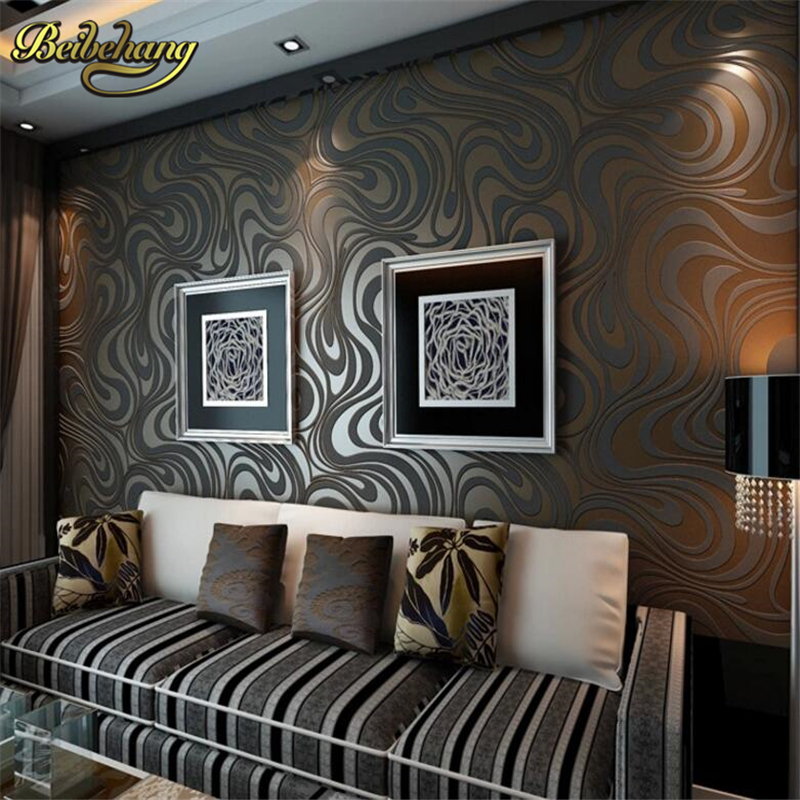 beibehang Modern Luxury Abstract Geometry Wallpaper 3D Mural Large Photo Wall Paper Waterproof Gold Black .papel de parede modern luxury wallpaper 3d wall mural papel de parede floral photo wall paper ceiling murals photo wallpaper papier peint behang