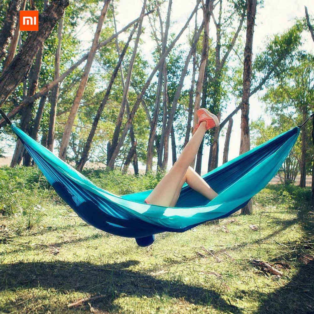 Image 5 - Xiaomi Mijia zaofeng Hammock Swing Bed 1 2 Person Parachute Hammocks Max Load 300KG for Outdoor Camping Swings Parachute cloth-in Smart Remote Control from Consumer Electronics