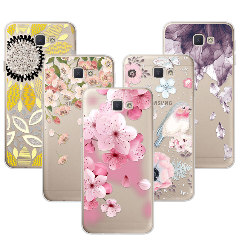 3D Relief Phone Case Cover For Samsung Galaxy J5 Prime On5 2016 Floral Cartoon Lace Soft TPU Coque For Samsung...  samsung on5 phone cases | 5 DIY Phone Case Designs  – How To Make Slime, Pusheen, Piano, Map and Studded Phone Covers 3D Relief font b Phone b font font b Case b font Cover For font b