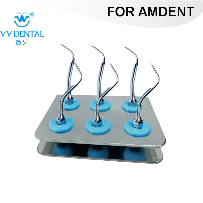 2 PCS ASKS DENTAL AMDENT Scaler Standard Kit Sliver FOR TEETH SCALLING AND TEETH TREATMENT WITH #37 AND #39 AMDENT TIPS цена