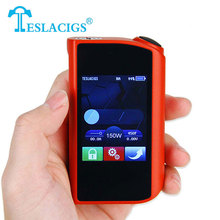 Original 150W Tesla Touch TC Mod Software Upgradable Support Ti/Ni200/SS/TCR/VW Modes Electronic Cig Mod Touch Screen Mod