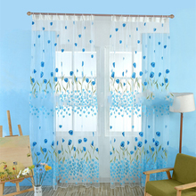 hot deal buy tulle curtains for kitchen curtains for living room fabric voile window bedroom tulip printed balcony sun shading 15%