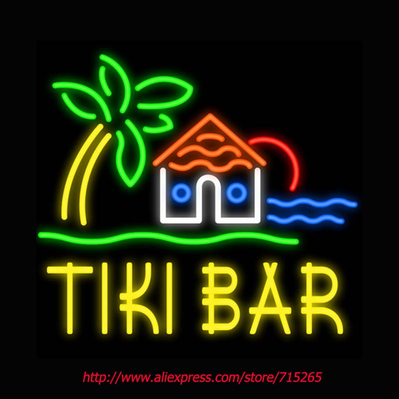 Bar House Tree Neon Sign Board Neon Bulbs Light Guarage Display Real GlassTube Custom Handcrafted Beer Light Decorate 24x24