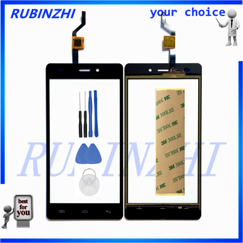 RUBINZHI Phone Touchscreen Sensor Touch Screen With Digitizer Panel For DOOGEE X5 X5 Pro X5S Front Glass +Tools+tape