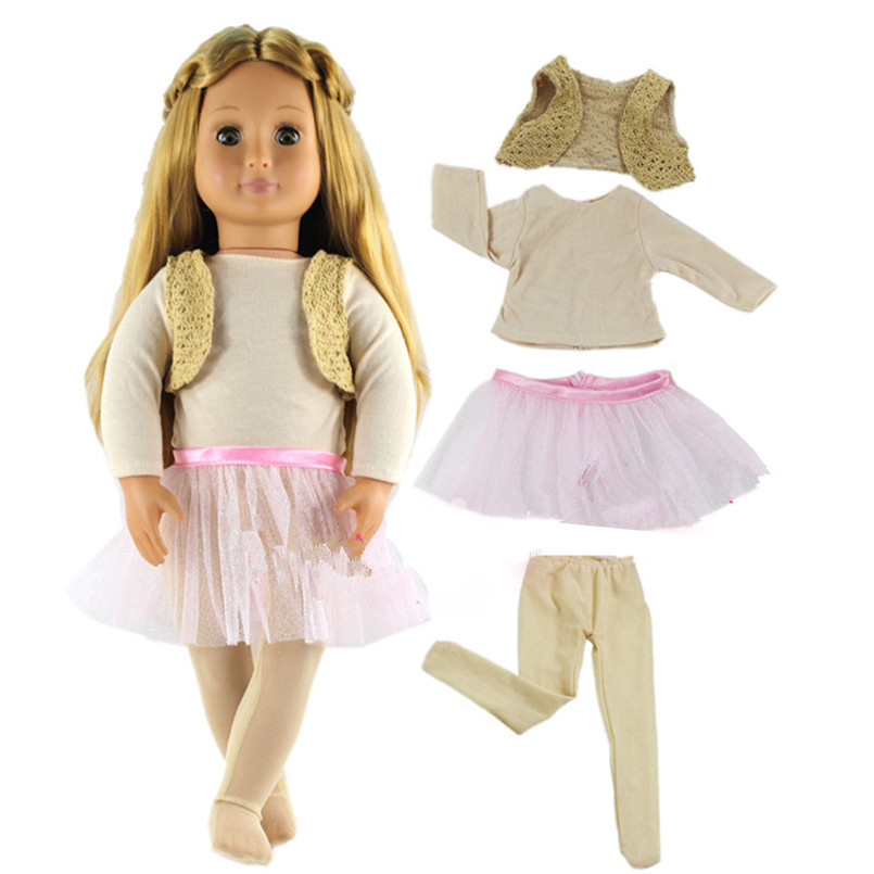 American Girl Doll Clothes for 18 Inch Dolls,New Style Doll Dress Accessories,Fashion Dolls Accessories 1pcs white pink doll fashion dress for 18 inch dolls american girl doll clothes new style