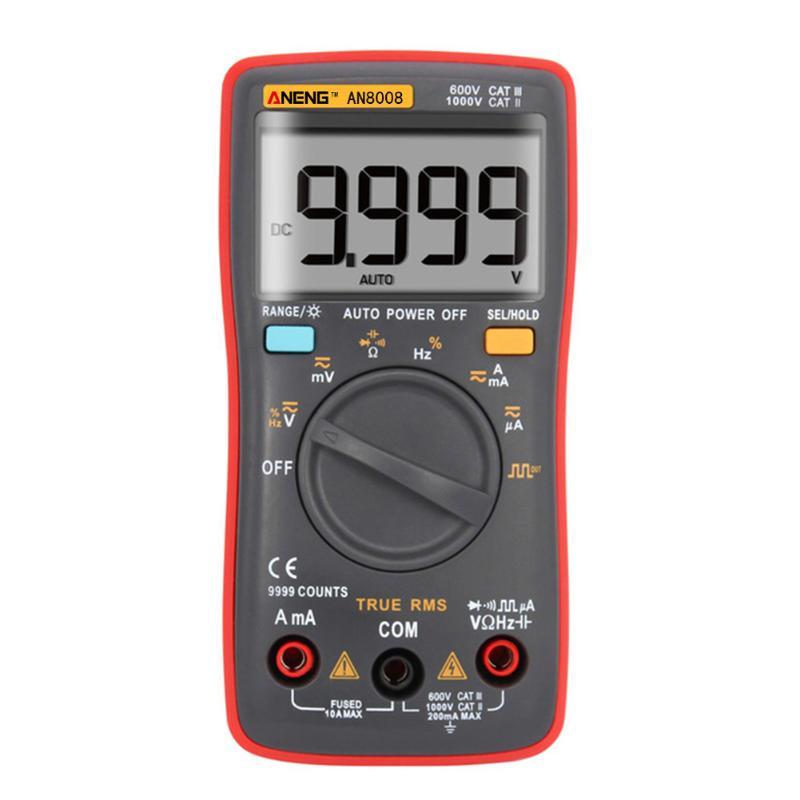 ANENG AN8008 True-RMS Digital Multimeter 9999 Counts Square Wave Backlight AC/DC Current Voltage Ammeter