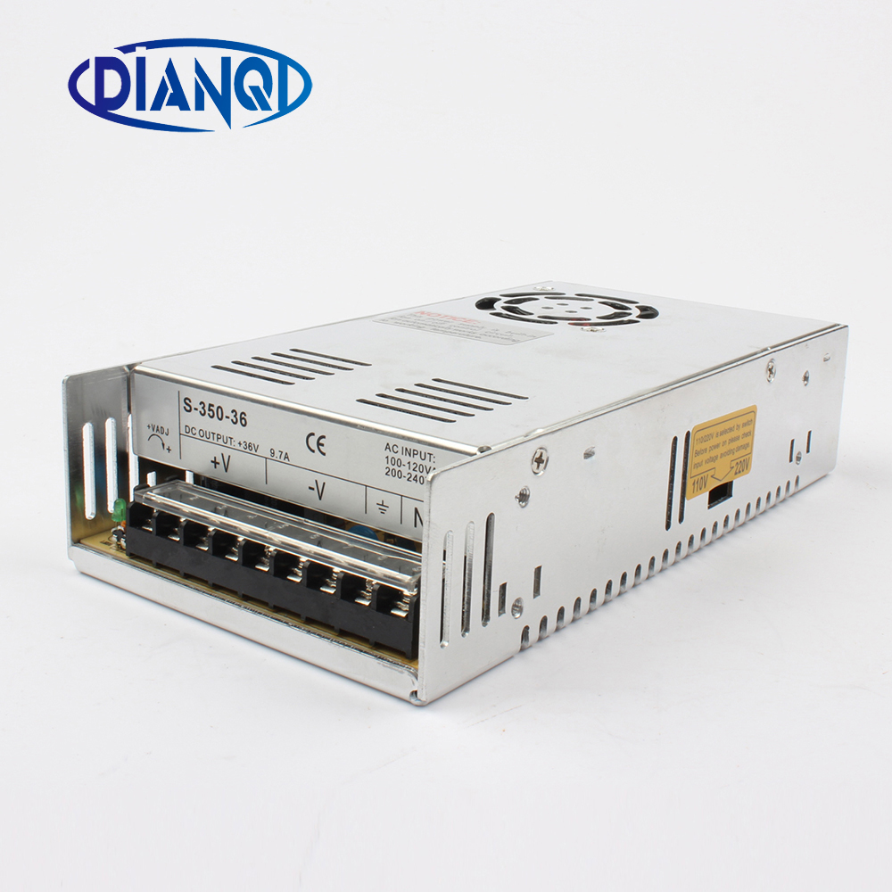 DIANQI High Quality Power Supply 36V 350W 9.7A AC to DC Power Supply AC DC Converter  S-350-36 20pcs 350w 12v 29a power supply 12v 29a 350w ac dc 100 240v s 350 12 dc12v