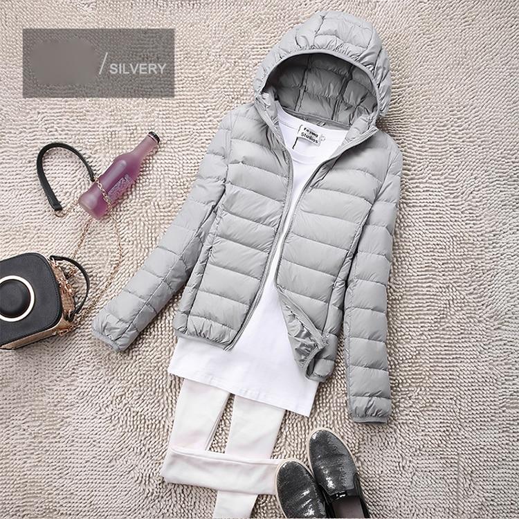SEDUTMO Winter Plus Size 4XL Womens Down Jackets Short Ultra Light Duck Down Coat Hooded Puffer Jacket Autumn Parkas ED034 6