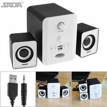 SADA Stereo Combination Speaker Portable Column Subwoofer Computer Speaker with 3.5mm Audio Plug Support TF Card for Desktop