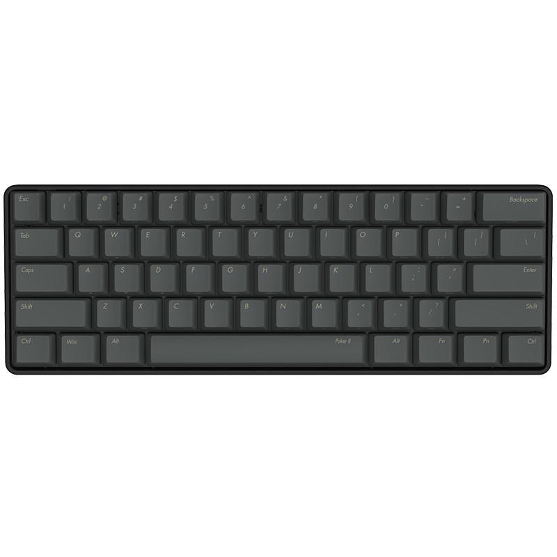 IKBC New Poker II 61-key Mechanical Keyboard Cherry MX Type-C Interface Black клавиатура asus strix tactic pro cherry mx black black usb 90yh0081 b2ra00