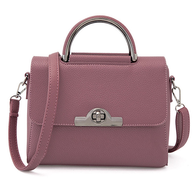 2016 New Fashion PU Leather Women Tote Solid Flap Lady Shoulder Bag Dress Female Handbag Business OL Bolso Feminina XA1694C