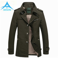 Brand Spring Autumn Stylish Men Slim Fit Trench Jackets Long Male Casual Jacket Men Windbreaker Overcoat