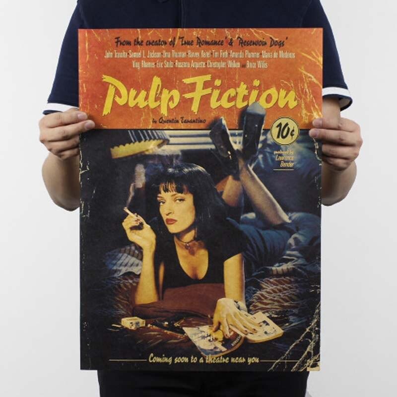 Фильм ретро постер винтажный аниме автомобиль плакаты и принты кофе кухня гостиная декоративная живопись крафт-бумага наклейки на стену - Цвет: 23