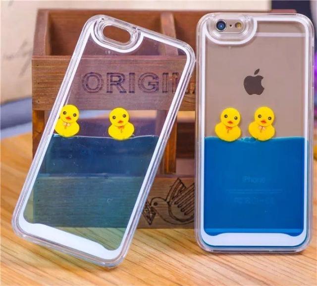 Circuler liquide de bain jaune canard housse etui pour iPhone 5c 5 G 6 G 4