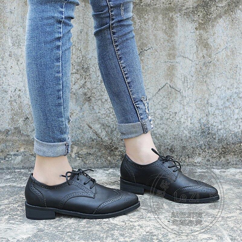 ФОТО Uniform Shoes Oxford Soft Leather Brogue Pu Pure Color Plain Roman Leather Rome Longwing Brogue Army Green