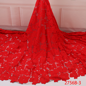 2019 African Lace Fabric Milk Silk Water Soluble Cord Lace High Quality Hot Sales Design For Wedding Party French Lace GD2756B-3
