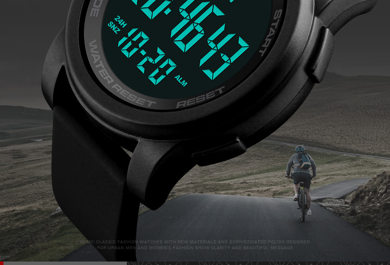 b14a30d37 Feature: Double Time, 50M Water Resistant, Complete Calendar, Chronograph,  Week Display, LED Display, Countdown.