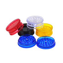 3PC/lot new plastic tobacco Grinder Herb 2 layers Tobacco Spice Crusher rolling machine