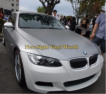 Silver Brushed Vinyl Wrapping Folie Car Body Film Bubble Free Air Bubble Free Size: 1.52*30M/Roll image