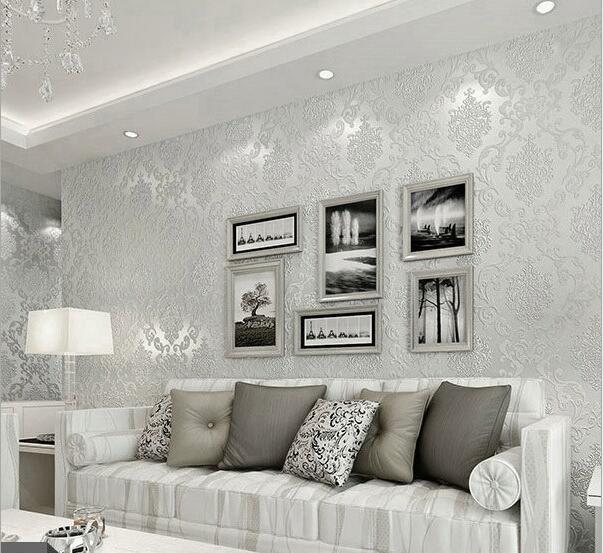 Design Moderne Europeenne Simple De Luxe Papier Peint De Damasse