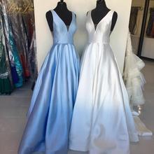Purple Satin Gown Prom Dress SF