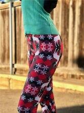 Winter Warm Christmas Fleece Lined Leggings