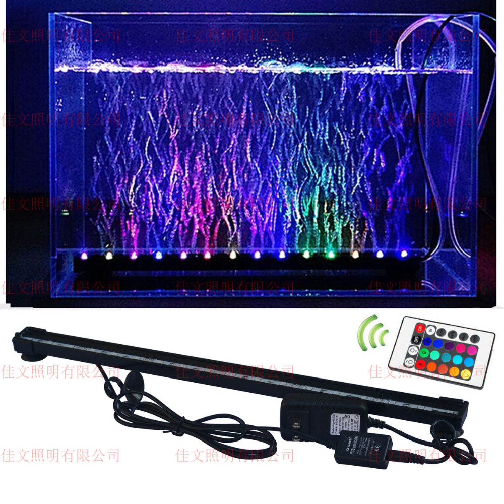 6W 18led RGB AC100-240V Fish Tank Plant Aquarium Led light Underwater  Bubble Light Lamp