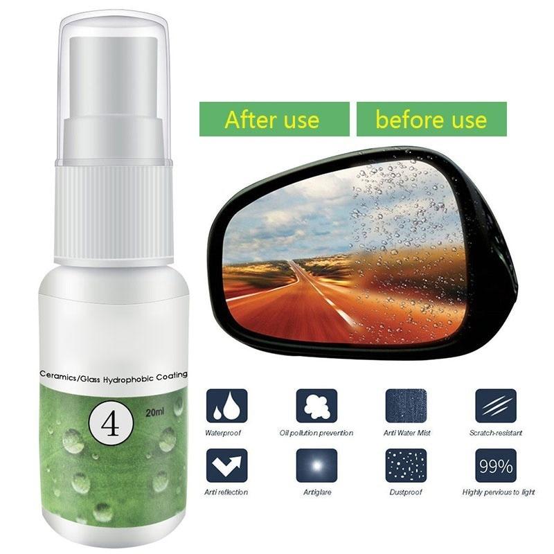 HGKJ-4-20ml Car Anti Rain Agent Multifunctional Ceramic/Glass Nano Hydrophobic Coating Windshield Rainproof Agent Spray New A