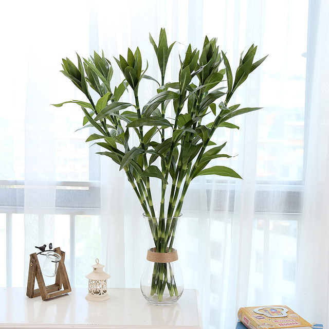 90 Cm Longue Tige Pastorale Artificielle Soie Fleur Chanceux Bambou