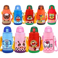 600ml Animal Cartoon Double Wall Stainless Steel Water Bottle Gift For Kids Cute Thermos Cup Drinkware