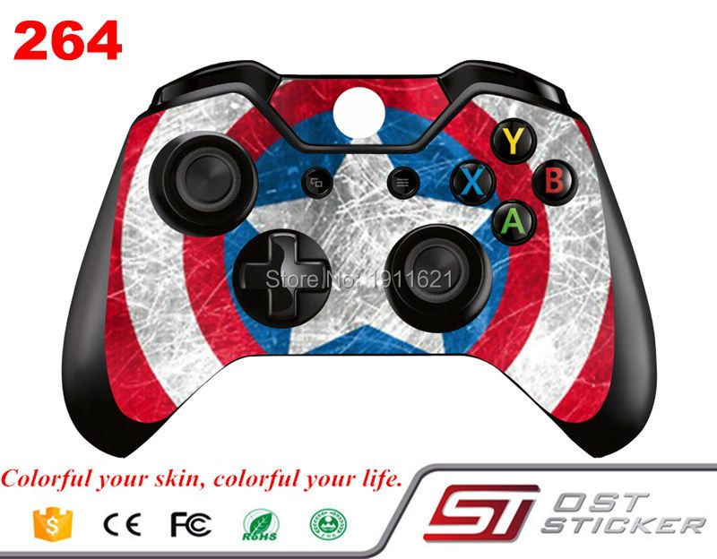 High quality vinyl sticker for xbox one wireless controller decal skin sticker for xbox one controller