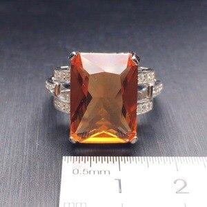 Image 5 - CSJ גדול אבן 13.5CT Zultanite טבעת סטרלינג 925 כסף אוקטובר לחתוך 12*16MM נוצר Sultanite נשים תכשיטים חתונה מסיבת מתנה