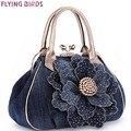 PÁJAROS de VUELO diseñador de las mujeres bolso de la flor de la vendimia bolsas mensajero de las mujeres de las señoras de las mujeres monedero bolsas bandolera LM3361
