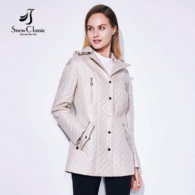 SnowClassic 2018 Printemps/Été De Mode Veste Dames Manteau Coupe-Vent Européenne Conception Zip Poches Revers Rosette