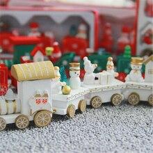 Dekoracja świąteczna drewniany pociąg