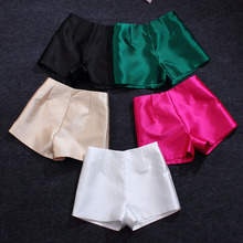 2017 brand women's fashion high-end wild was thin color shiny shorts