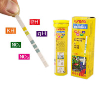 Sera 5 in 1 Easy Test Strips PH GH KH NO2 NO3 Aquarium Fish Tank Water 50 Strips