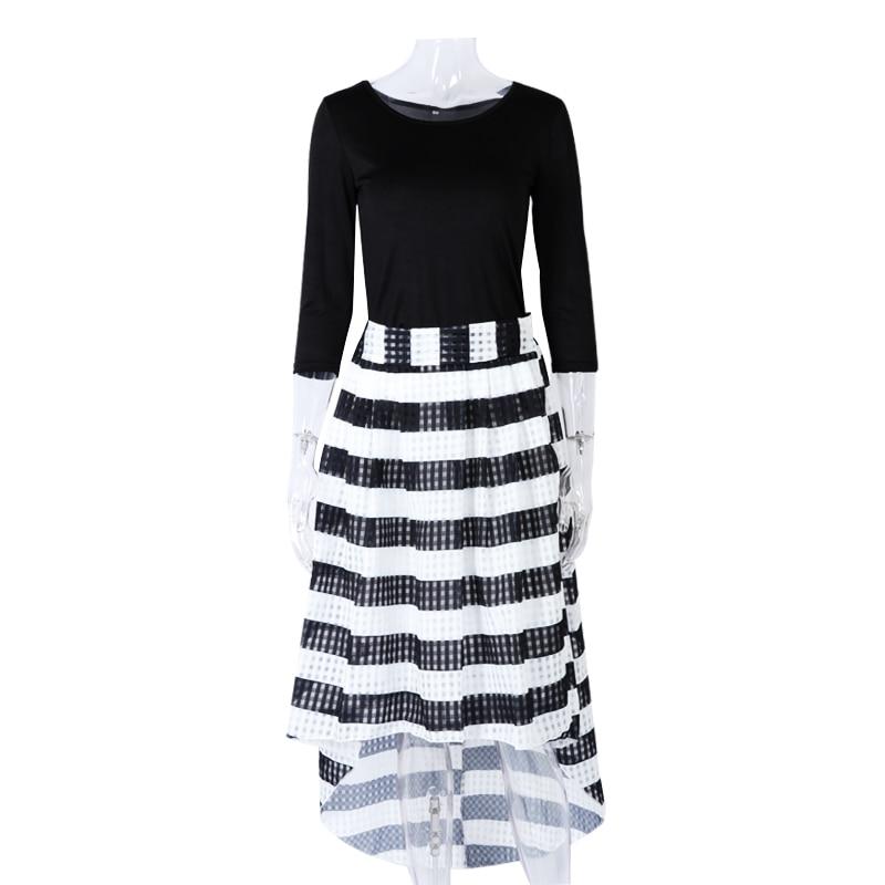 Elegant Two-Piece Long Sleeve Stripe Dress 4