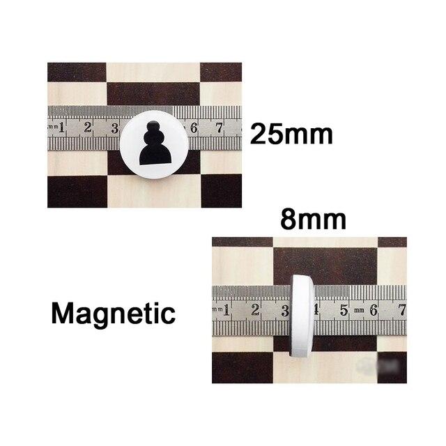 Jeu d'échecs magnétiques disques portables 3