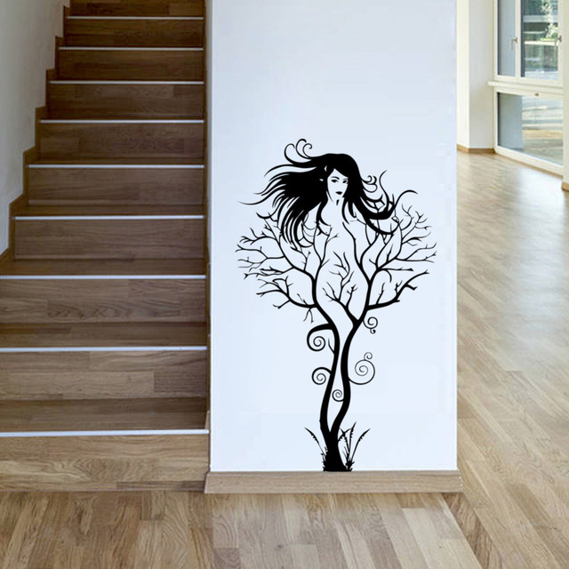 cheap sexy girl wall stickers office living room decor decoration diy tree branch paredes home. Black Bedroom Furniture Sets. Home Design Ideas