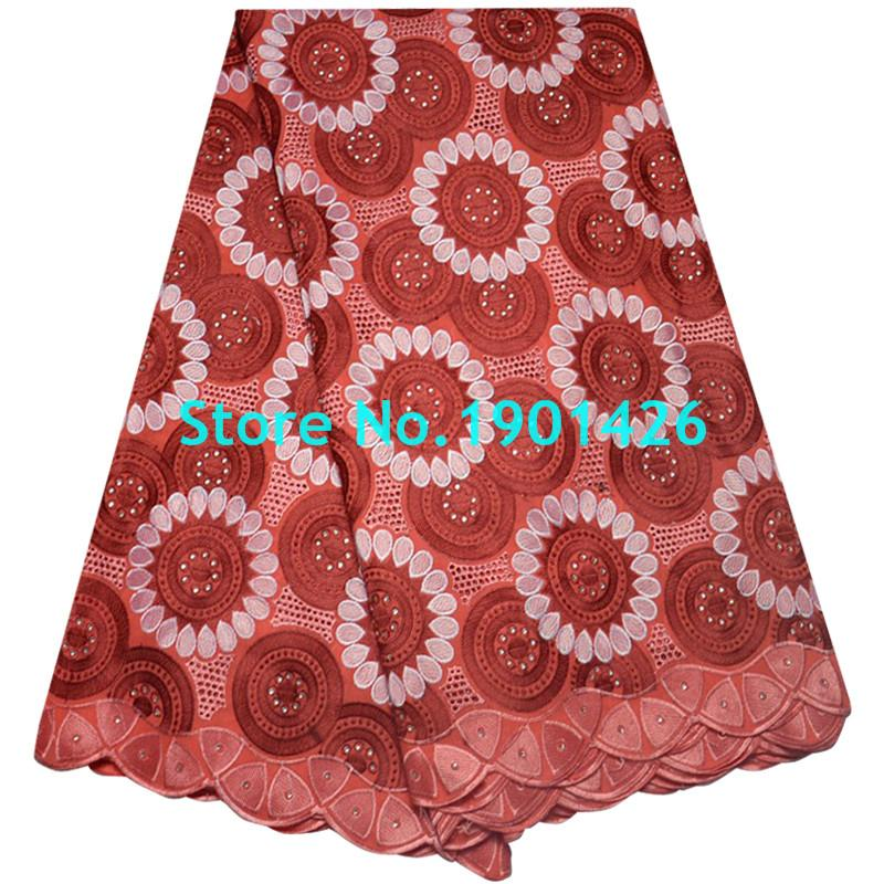 High Quality Swiss Voile Laces Switzerland Plan Color Cotton Lace With Stone Swiss Voile Lace In