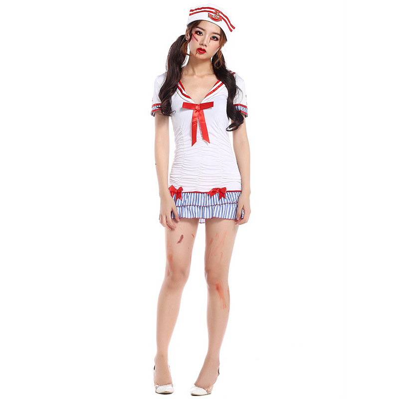 <font><b>Halloween</b></font> <font><b>Sexy</b></font> women party Sailor Costumes Women Sailor <font><b>Dress</b></font> Seaman Lingerie Cosplay Costumes Women Sailor Lingerie image