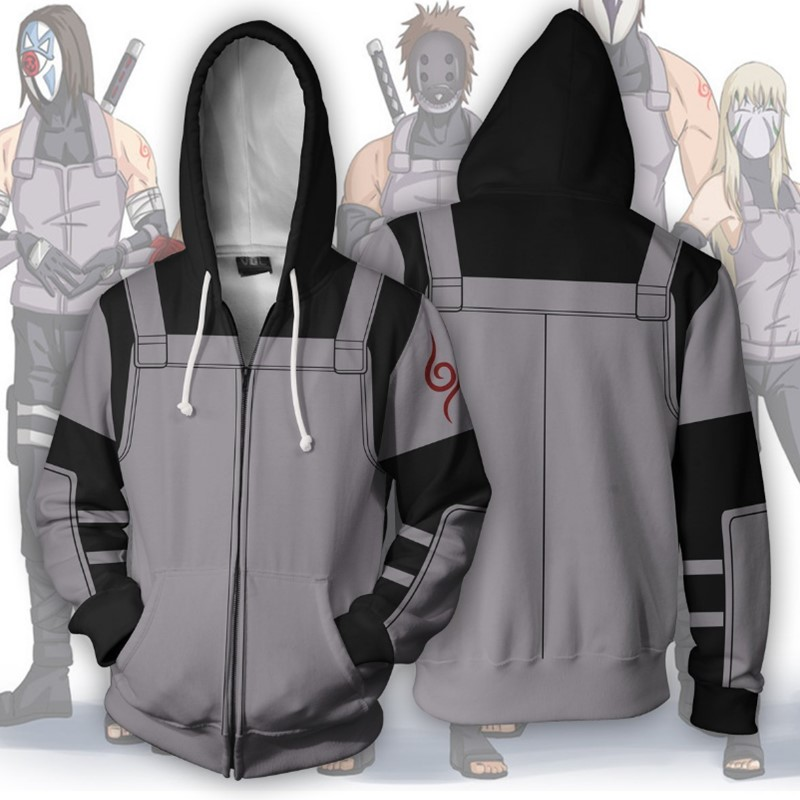 3d Print Naruto Ninja assassin Sweatshirts Hoodie Anime Cosplayostume Jackets Coats Men Women
