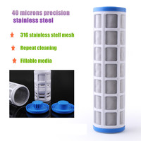 Water Filter Accessories 10 Inch SS304 Pre Filter Core 40 Microns Stainless Steel Wire Mesh Insert