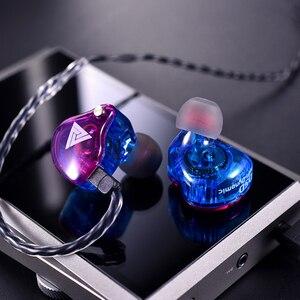Image 4 - Original QKZ VK4 ที่มีสีสัน DD หูฟัง HIFI เบสหูฟังตัดเสียงรบกวนพร้อมไมโครโฟนเปลี่ยนสายหูฟัง