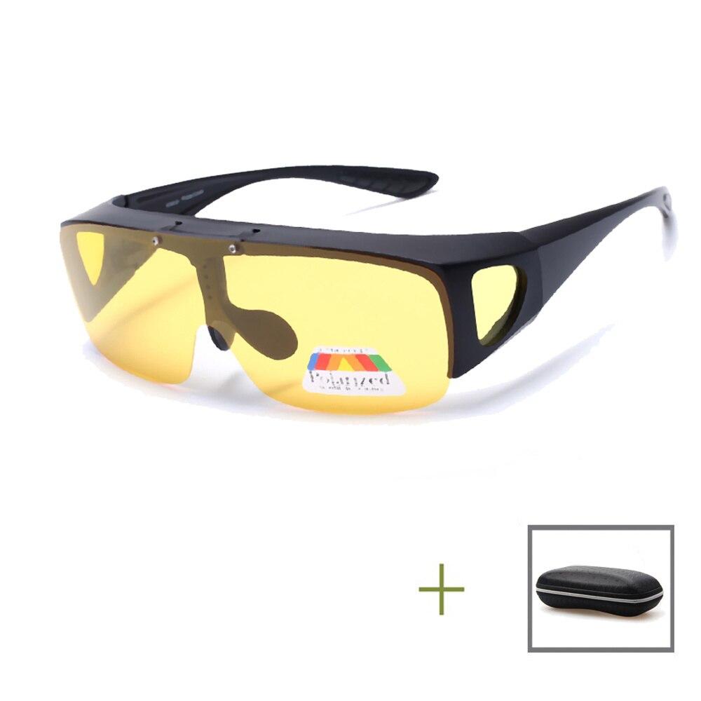 Polarized Night Vision Driving Sunglasses Men Women Fishing Glasses Goggle UV