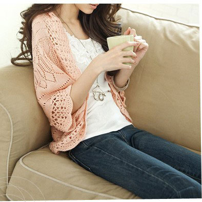 2018 Spring and summer new Korean women Hollow thin knitted Cardigan sweaters Lady loose ...