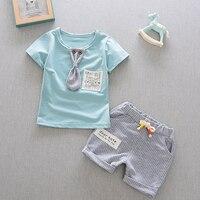 2017 Summer Baby Boys Clothes Kids Short Sleeve Clothing Set Star Toddler Boys Short Sleeved