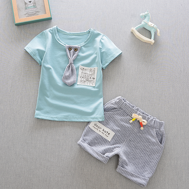 2018 Summer Baby Boys Clothes Kids Short Sleeve Clothing Set Star Toddler Boys short sleeved T-Shirts+Children Shorts
