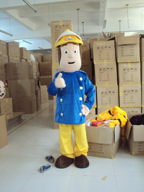 Fireman Sam Mascot Costume Cartoon Firefighter Character cosplay theme mascotte carnival costume Fancy  Dress Adult Size Outfit